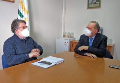 Diputado Berger y gobernador Cuvertino revisaron cartera de inversión regional